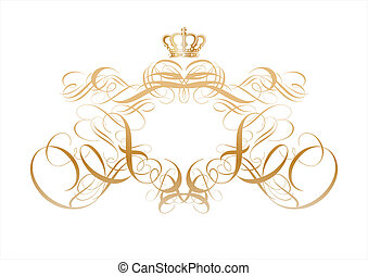 titling frame - ornamental elements. Suggested uses: titling...
