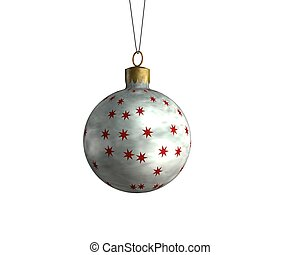 Christmas sphere 2 - a christmas decoradion rendered on a...