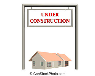 Under construction, real estate sign. - Under construction...