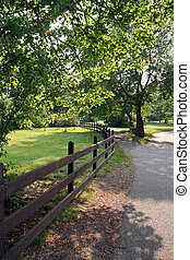 Quiet Path with Fence