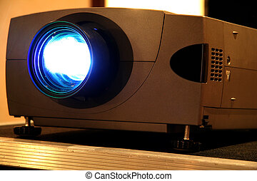 Presentation Projector for Meeting with Light Beam