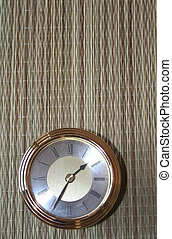 Antique clock on mat abstract