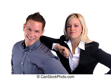 Young Couple - An Attractive Young Couple In Business...