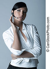 Businesswoman Cold-Ver - Beautiful brunette business woman...