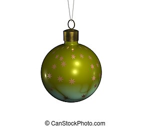 Christmas sphere 4 - a christmas decoradion rendered on a...