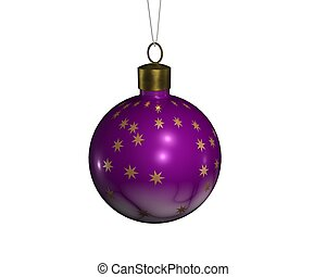 Christmas sphere 6 - a christmas decoradion rendered on a...
