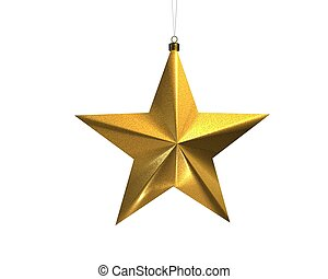 Christmas star - a christmas decoradion rendered on a white...
