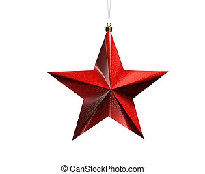 Christmas star 2 - a christmas star rendered on a white...