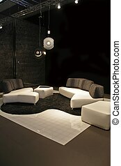 Black-White Design - modern furniture in white and black...