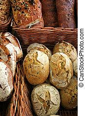 Fresh Bread - fresh bread in bakery baskets