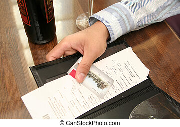 Business Man Paying His Lunch Bill 2 - close up photo of...