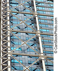 Steel and glass skyscraper