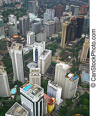 City Skyscrapers - Aeriel view of Kuala Lumpur, the capital...
