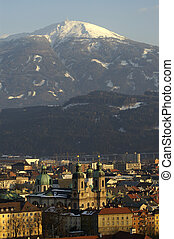 Innsbrucks Center - The center of Innsbruck with the dome...