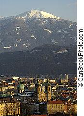 Innsbrucks Center - The center of Innsbruck with the dome...