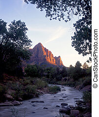 VirginRiver - The Watchman and the Virgin River in Zion...