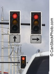 Traffic Lights - Some raffic lights in the down town.