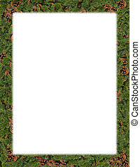 Seasonal frame - Wider seasonal border, with pine cones and...