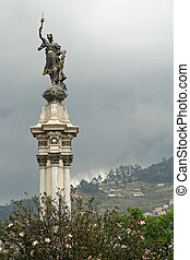 Liberty Statue, Plaza de la Independencia, Quito, Ecuador