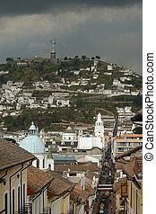 View on quito city. ecuador. south america