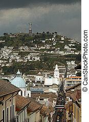 View on quito city. ecuador. south america