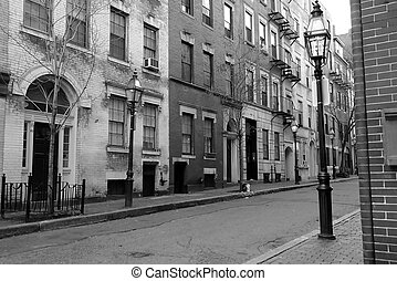 myrtle street boston - black and white image of myrtle...