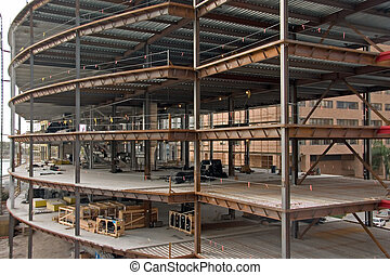 Multi-level Construction - Large multi-story building under...