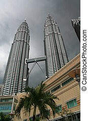 Petronas Twin Towers - Looking up to Kuala Lumpurs Petronas...