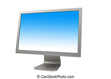 LCD Monitor. Include clipping path