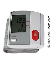 Blood Pressure Monitor Close up