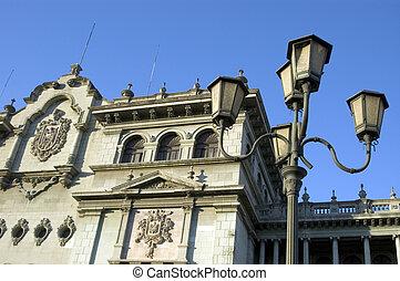national palace guatemala city plaza mayor zone one