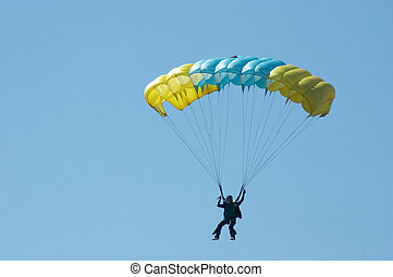 Skydiver. Novosibirsk, Airport Mochishe, airshow, august...