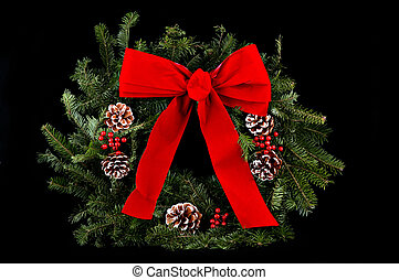 Christmas wreath - A beautiful Christmas wreath complete...