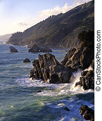 BigSurCoast3 - The Big Sur coast in California.