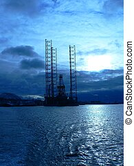 Blue Rig - Oil Rig parked at Refinery in Woodside Taken with...