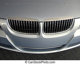Luxury auto grille - Luxury automobile grille close up