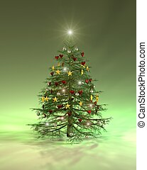 Colourful Christmas tree - A colourful christmas tree...
