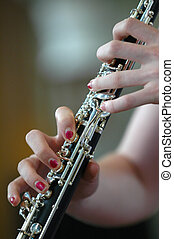 clarinet player - clarinet performance at a concert