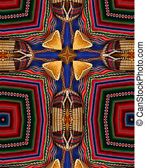 Breads cross - kaleidoscope cross from photo of breads on...