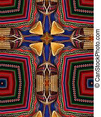 Breads cross - kaleidoscope cross from photo of breads on...