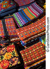 hand made woven objects guatemala - colorful hand made...