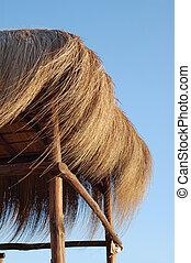 straw hut - summer time