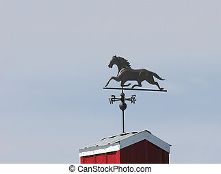 Weather vane - wrought iron wind vane on top or barn