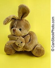 Bunny rabbit cuddly toy - Furry, cuddly, lovable little...
