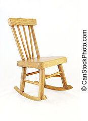 Wooden rocking chair - isolated