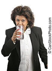 Indian Woman - Drinking Water - A pretty Indian...