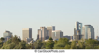 Phoenix Downtown Panorama - Panorama of Downtown of Phoenix,...