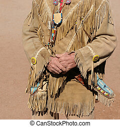 American Dress - Traditional Native American Leather Dress...