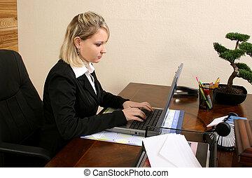 oficina, trabajador