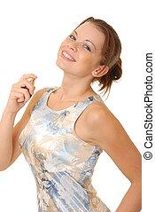 Applying Perfume 3 - Sexy brunette girl applying perfume...